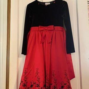 Rare Editions girls velvet/satin dress